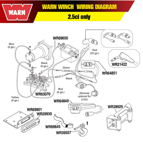 Warn winch a2000 schematic