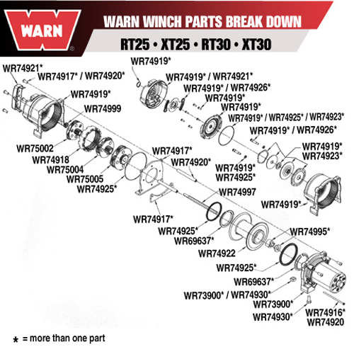 Warn 74918 Warn Winch Sliding Ring Gear