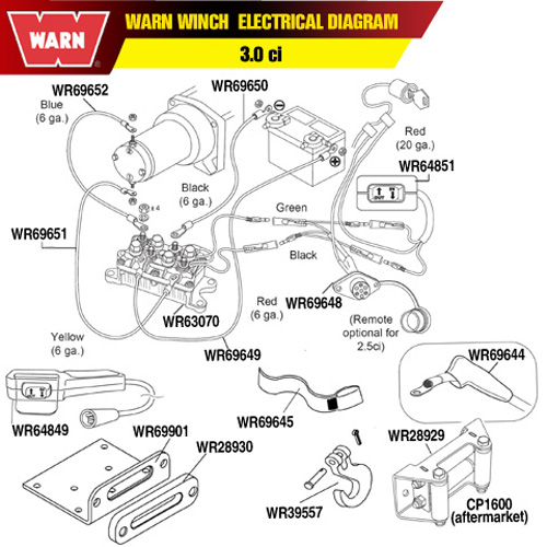 3.0 Warn electrical parts warn winch hawse fairlead mounting plate 2500 Warn Winch Wiring Diagram at gsmx.co