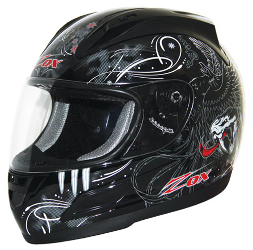 "Zox Thunder ""R"" Venom Red/Black Helmet - Small 86-31152"