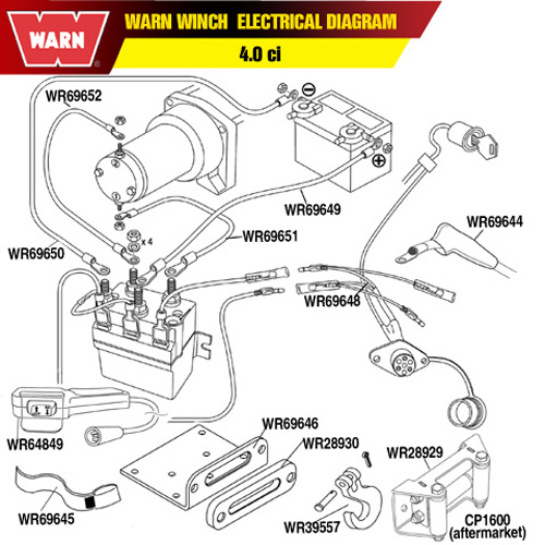 warn a2000 parts diagram warn 69648 warn winch remote control socket harness #13